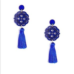 💙 Zenzii Cobalt pendant earrings with tassel 💙